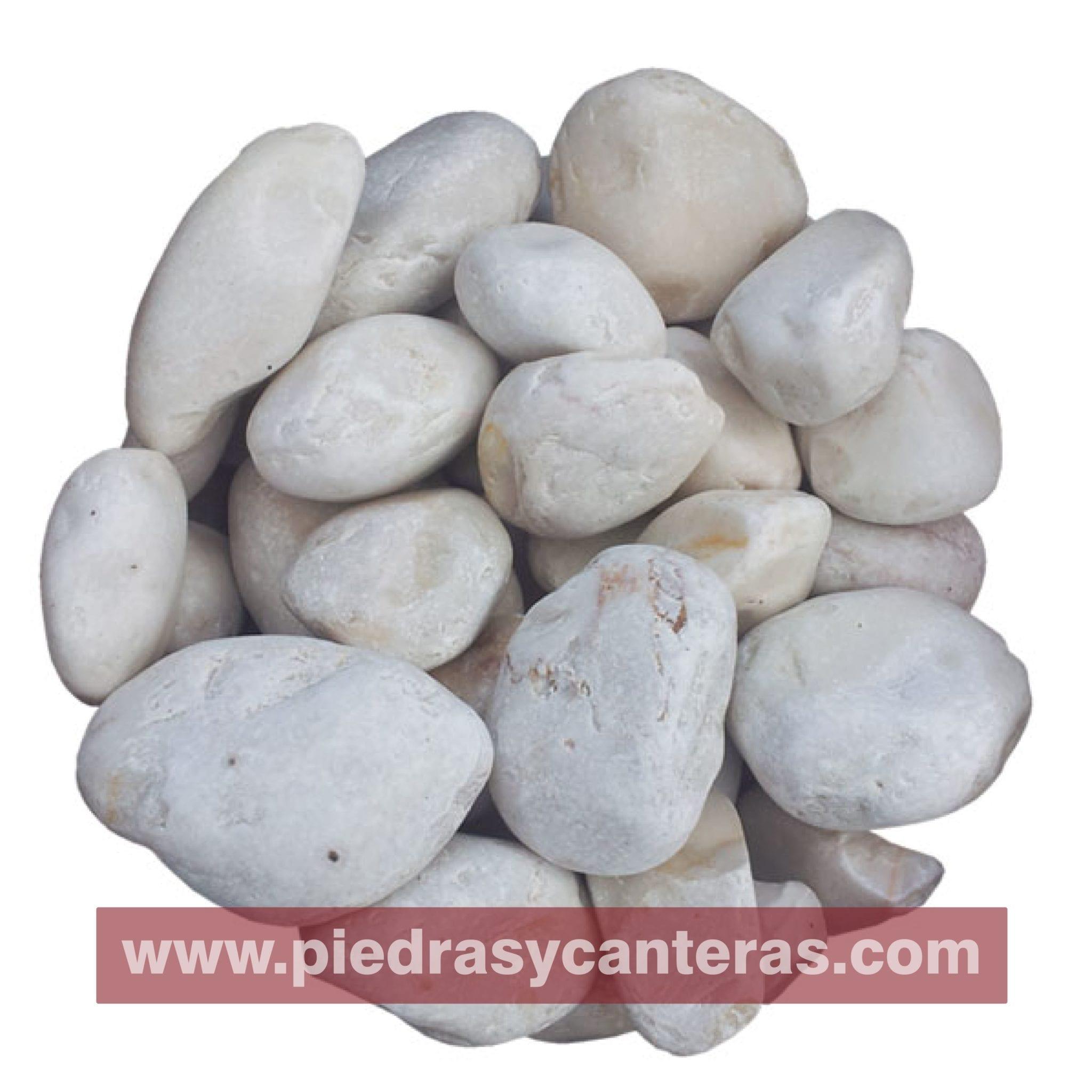 Piedra de Marmol Blanca Limon 2.5