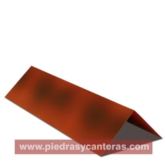 Cumbrera Lamina tipo teja Flameado Roja