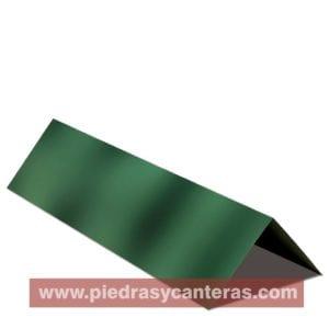 Cumbrera Lamina tipo teja – Adler Flameado Verde